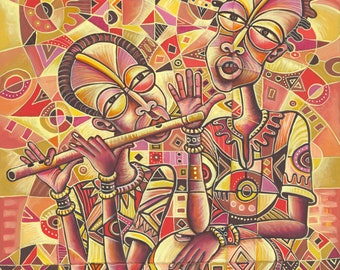 The Drummer and the Flutist III giclée art print