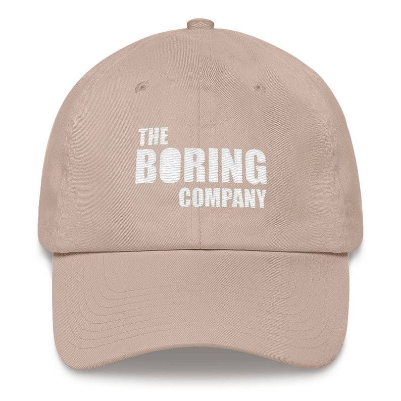 The Boring Company Hat Not A Flamethrower Embroidered Dad  308edccf33b9