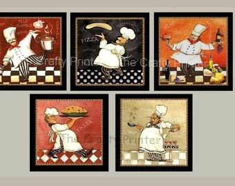 Fat Chef Decor Etsy