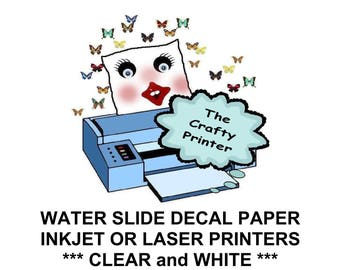 Laser Printer Gold Or Silver Foil Decal Paper Shiny Etsy