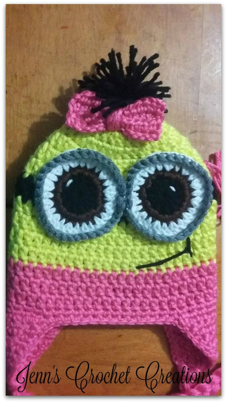 Crochet Minion Hat,Character Hat Crochet Hat,Children/'s Crochet Minion Hat Girl Minion Crochet Despicable Me Hat Boy Minion Minion Hat