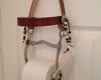 Horse Bit Decor, Rustic Toilet Paper Holder, Western Decor, Cowboy Decor,  Farm Decor, Towel Holder, Western Bath, Country Decor, Cowgirl