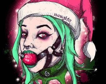 Betty Boop Naughty Girl Dear Santa Christmas Xmas Mistletoe Unisex Jumper