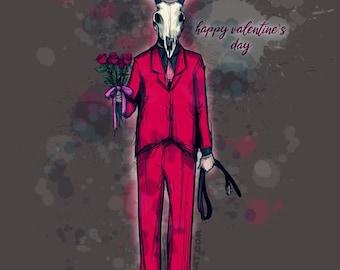Deer Daddy Series 4 Valentines Fine Art Print Poster