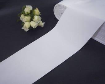 Soft handfeel White Waistband Elastic Band Trim 3 inch / 7.6 cm width  -  thickness 0.5mm EB25