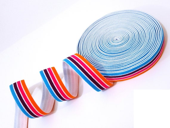 8 MTRS OF 15MM TWO SIDED PATTERNED SOFT STRETCH ELASTIC