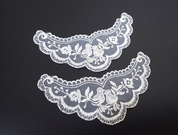 A79 13y Vintage White Detailed Scalloped Lace Trim
