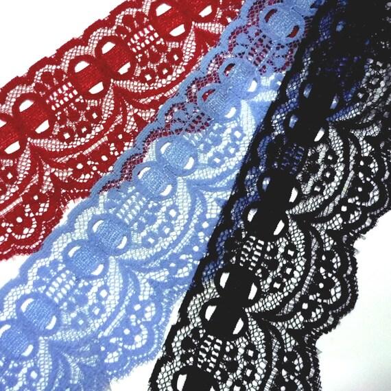Cotton Blend Lace Per Metre Red