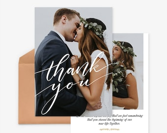 Wedding Thank you Card Template for Photographers, Wedding Photography - Photoshop Templates - Wedding Thank you Card - TK018