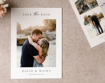 Photoshop Templates SD026 Save the Date Card Announcement Engagement Photography Save the Date Template for Photographers
