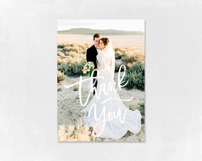 Wedding Thank you Card Template for Photographers Wedding image 0