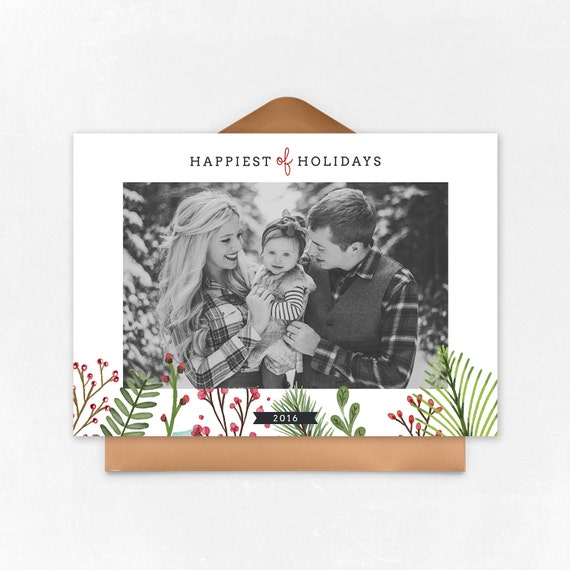 Weihnachtskarte-Photoshop-Vorlage CD042 | Etsy