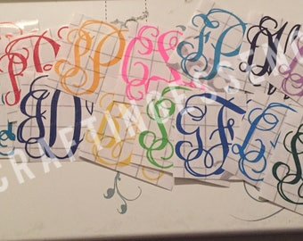7a999314098577 Monogram Decals - Multiple Sizes Available