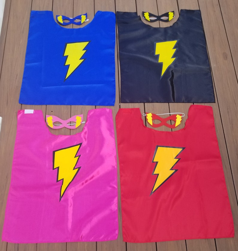 Boy Super Hero Capes Superhero Capes for Children -Cape and Mask Set Girls Super Hero Ships Quickly Super Hero Birthday Gift or Favor