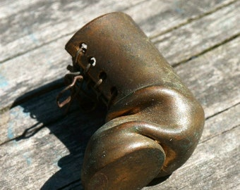 Vintage Trench Art Old Boot with Shoelace