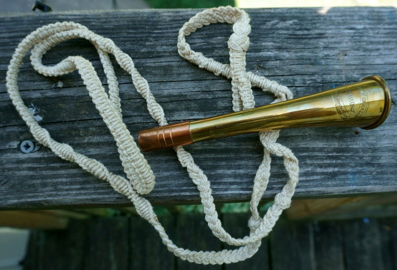 Judge Vintage Authentic Models Nautical Ship HornWhistle-Holland Ambrika LIJN SS New Amsterdam Ist Class Only 1992 F.L.C