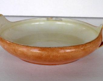 Antique Beyer & Bock Porcelain Dish with Handles