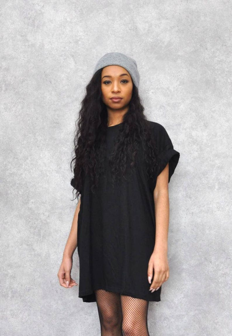 ea44e6c9f8aa Black Oversized Boyfriend T-Shirt Dress