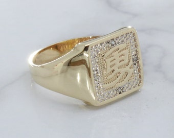 198b2979c0a8e7 Gold Chinese Inscription Ring