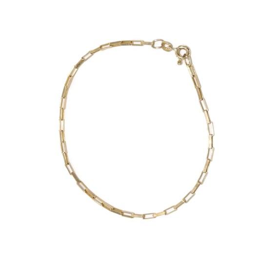 Gold Box Bracelet, Dainty Gold Bracelet, 9ct Brace