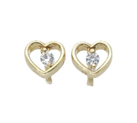c548c6b9be9af0 Heart Stud Earrings Heart Earrings Gold Heart Earrings | Etsy