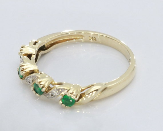 Emerald and Diamond rings, Emerald Ring, Eternity… - image 6