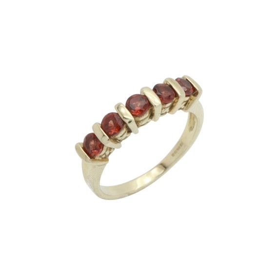 Red Garnet Ring, Natural Garnet, Gold Garnet Ring,