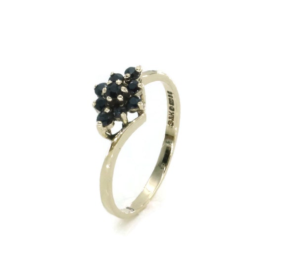 Sapphire Cluster Ring, Sapphire Jewelry, Sapphire