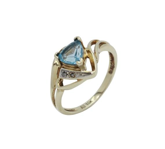 Aquamarine Diamond Ring, Aquamarine Gold Ring, Dia
