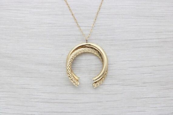 taglia 40 d124d 671f9 Ferro di cavallo, collana unica, incisa collana, ferro di cavallo stile,  collana d'oro, collana, anello collana, collana fatta a mano,