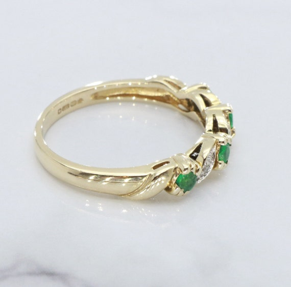 Emerald and Diamond rings, Emerald Ring, Eternity… - image 2