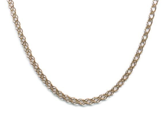 Diamond Link Necklace, Women's Gold Necklace, Wome