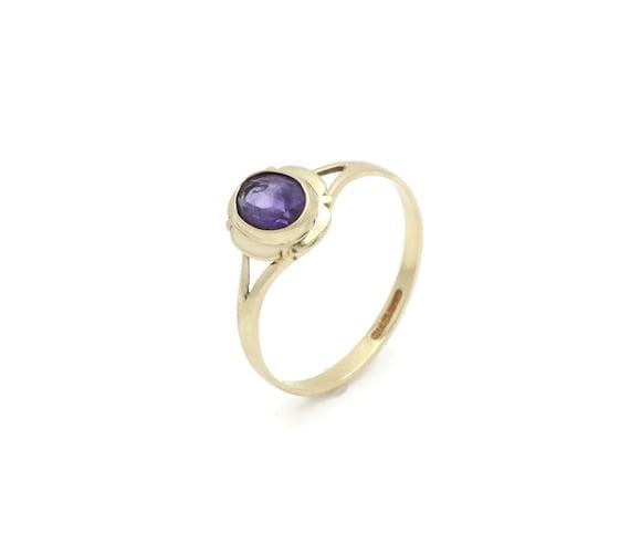 Amethyst Ring, Oval Amethyst, Amethyst Engagement
