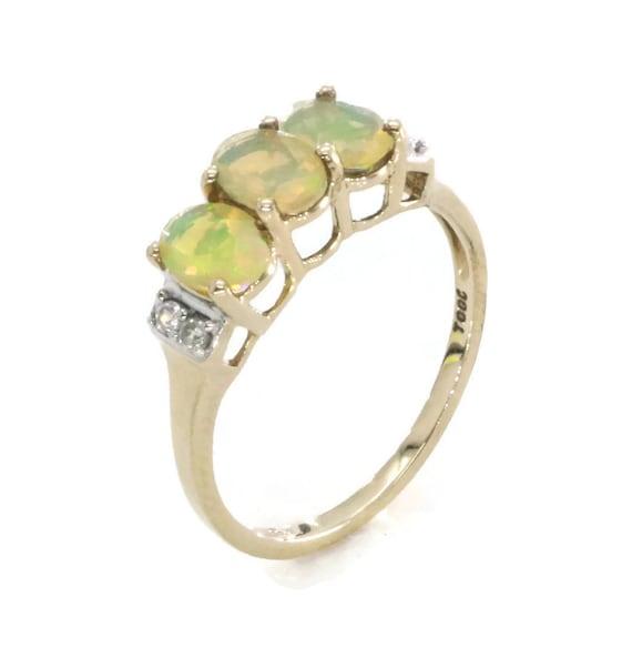 Opal & Diamond Ring, Opal Rings, Womens Opal Ring,