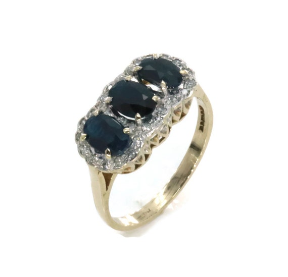 Blue Sapphire Ring, Sapphire Engagement, Sapphire
