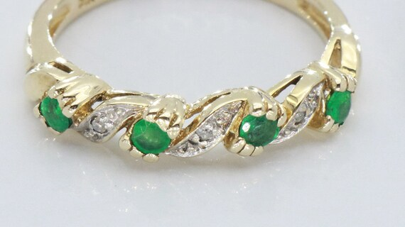 Emerald and Diamond rings, Emerald Ring, Eternity… - image 10