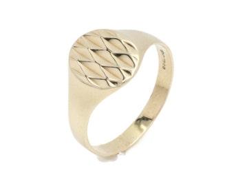 Gold Signet Ring, Men's Signet Ring, Men's Gold Rings, Signet Ring Men, Signet Ring, Gold Rings Men, Diamond Cut Signet Ring, Gold Rings