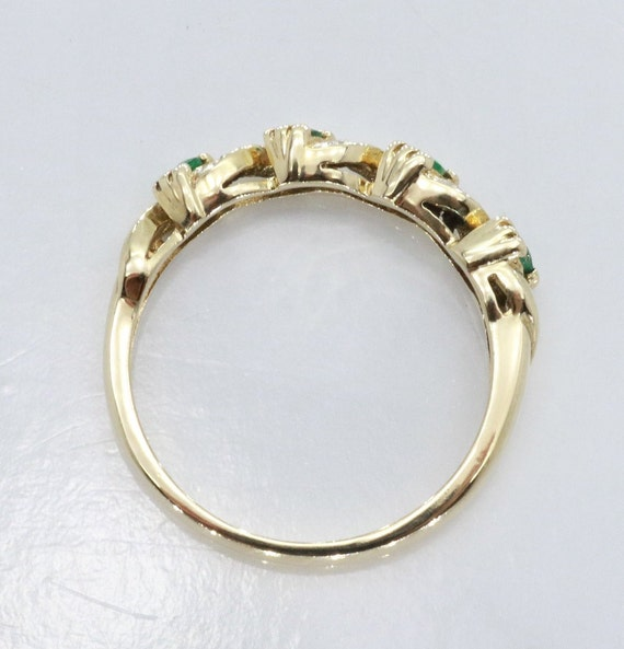 Emerald and Diamond rings, Emerald Ring, Eternity… - image 5