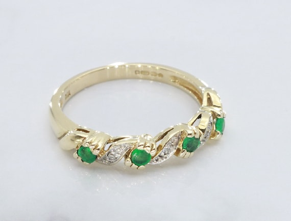 Emerald and Diamond rings, Emerald Ring, Eternity… - image 1
