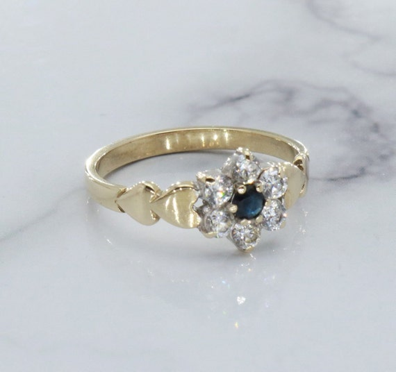 Black Sapphire Ring, Sapphire Ring, Engagement Rin
