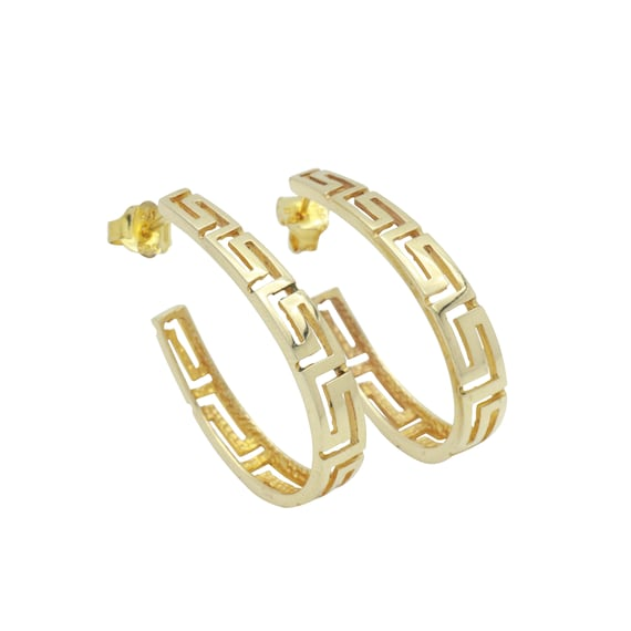 Celtic Hoop Earrings, Statement Earrings, Gold Hoo