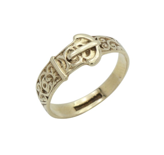 Womens Buckle Ring, Gold Buckle Rings, Womens Ring