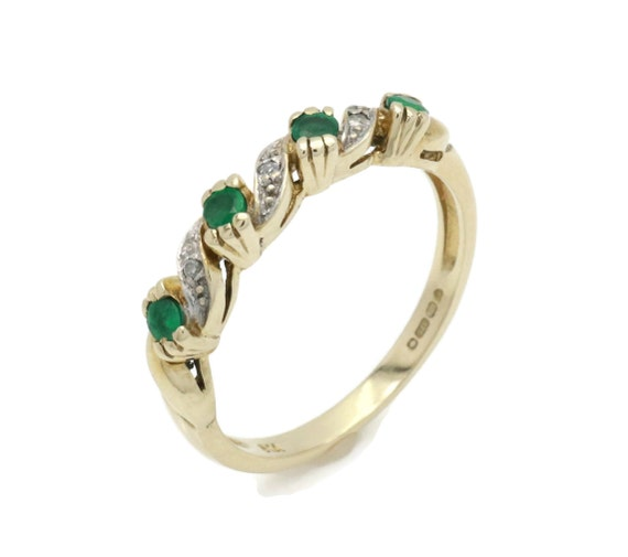 Emerald and Diamond rings, Emerald Ring, Eternity