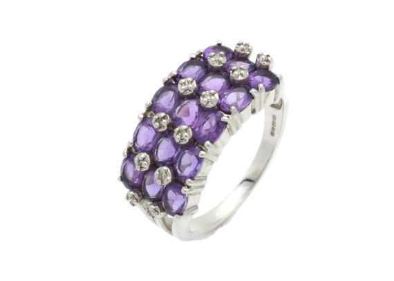 Amethyst Ring, Large Amethyst Ring, February Birth