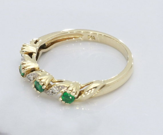 Emerald and Diamond rings, Emerald Ring, Eternity… - image 4