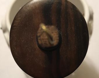0.60 oz Tiger Ebony Wood - Top Whorl Drop Spindle