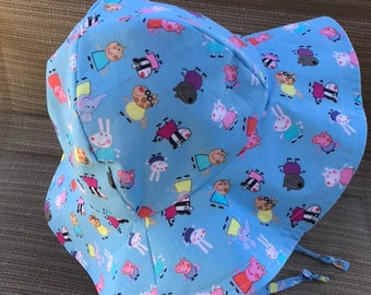 f50e02b30278bf Peppa Pig Floppy/Bucket Hat, Sun Hat, Sun Bonnet, Beach Hat