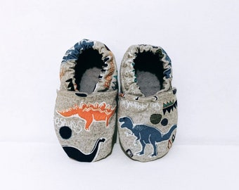 Prehistoric Dino Soft Sole Shoes, Softsole Shoes, Baby Shoes, Slippers, Slip Ons, Crib Shoes, Car Shoes