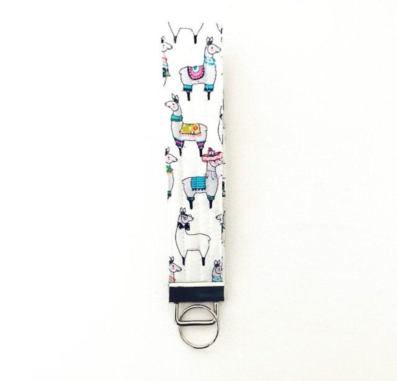 Llama Key Fob Wristlet Key Holder Key Chain image 0