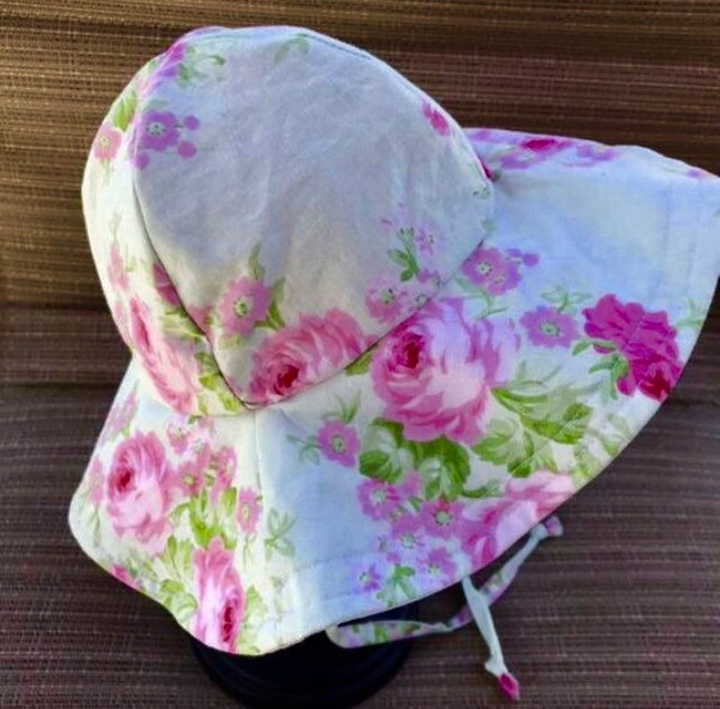 Wild Bouquet Floppy Hat Sun Bonnet Sunhat Beach Hat image 0